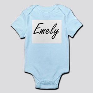 Emely artistic Name Design Body Suit