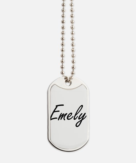 Emely artistic Name Design Dog Tags