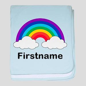 Rainbow (p) baby blanket
