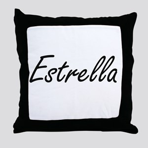 Estrella artistic Name Design Throw Pillow