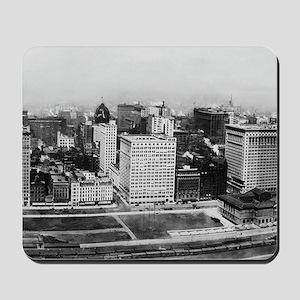 Michigan Avenue in Chicago (1911) Mousepad