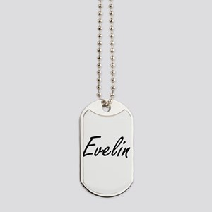 Evelin artistic Name Design Dog Tags