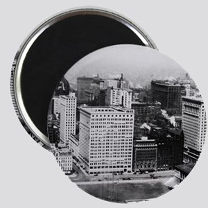 Michigan Avenue in Chicago (1911) Magnets