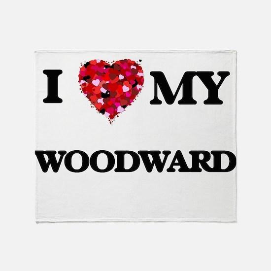 I Love MY Woodward Throw Blanket
