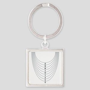 Choice of Diamonds Square Keychain