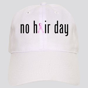 No Hair Day (pink Ribbon) Baseball Cap