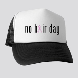 No Hair Day (pink Ribbon) Trucker Hat