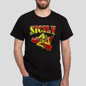 Sicily Sicilian Trinacria Dark T-Shirt