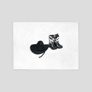CowboyHatBoots092610 5'x7'Area Rug