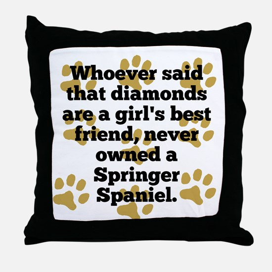 Springer Spaniels Are A Girls Best Friend Throw Pi