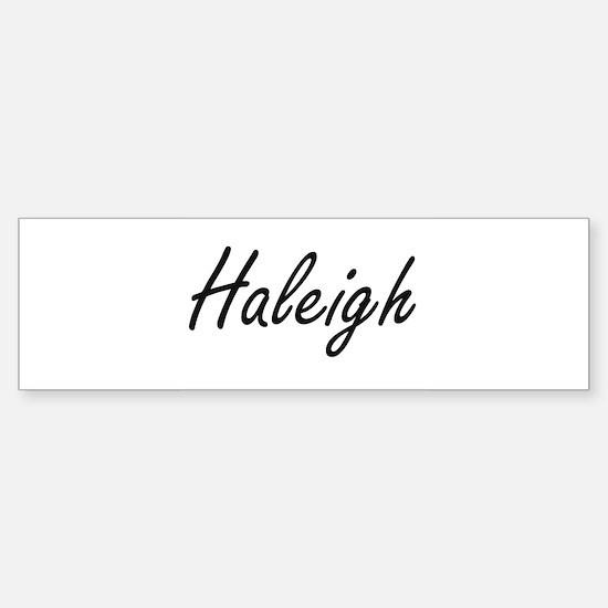 Haleigh artistic Name Design Bumper Car Car Sticker