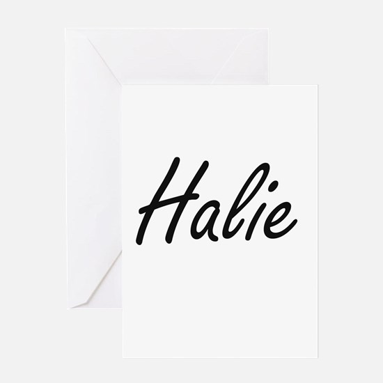 Halie artistic Name Design Greeting Cards