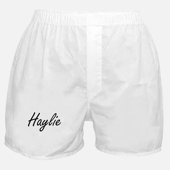 Haylie artistic Name Design Boxer Shorts