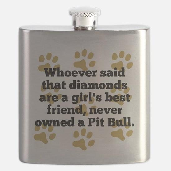 Pit Bulls Are A Girls Best Friend Flask