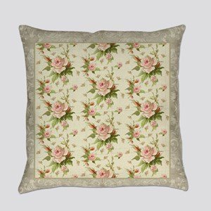 Summer at the Cottage Roses Chintz Everyday Pillow