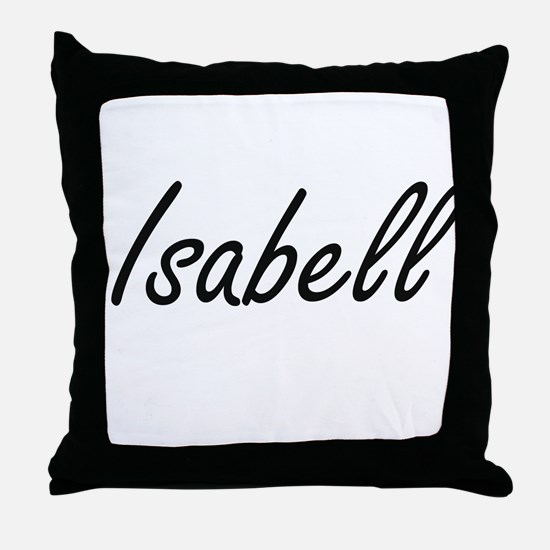 Isabell artistic Name Design Throw Pillow