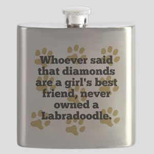 Labradoodles Are A Girls Best Friend Flask