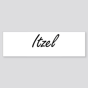 Itzel artistic Name Design Bumper Sticker