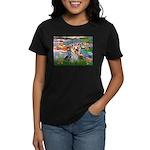 LILIES / Yorkie (T) Women's Dark T-Shirt