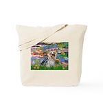 LILIES / Yorkie (T) Tote Bag