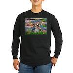 LILIES / Yorkie (T) Long Sleeve Dark T-Shirt
