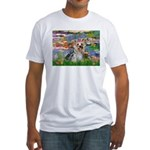 LILIES / Yorkie (T) Fitted T-Shirt