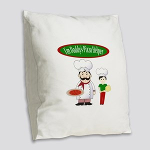Daddys Helper Son Burlap Throw Pillow