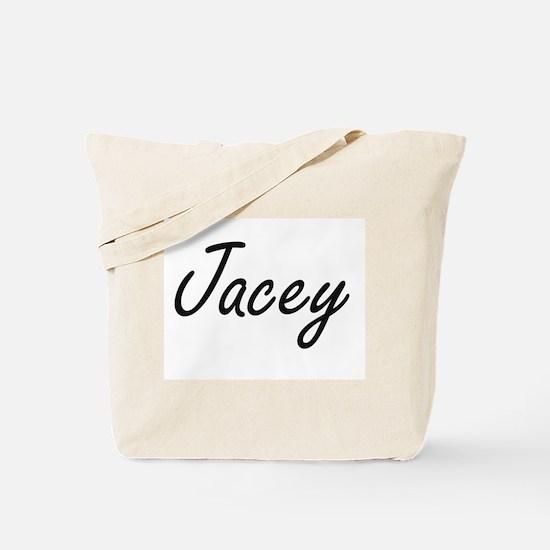 Jacey artistic Name Design Tote Bag