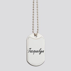 Jacquelyn artistic Name Design Dog Tags