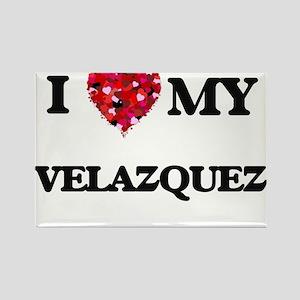 I Love MY Velazquez Magnets
