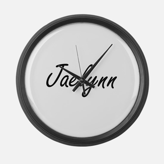 Jaelynn artistic Name Design Large Wall Clock