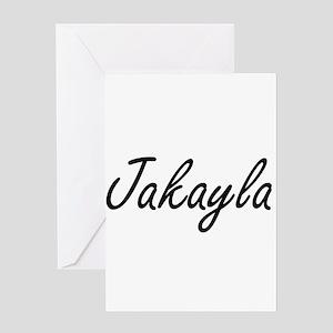Jakayla artistic Name Design Greeting Cards