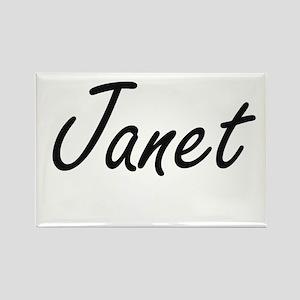 Janet artistic Name Design Magnets