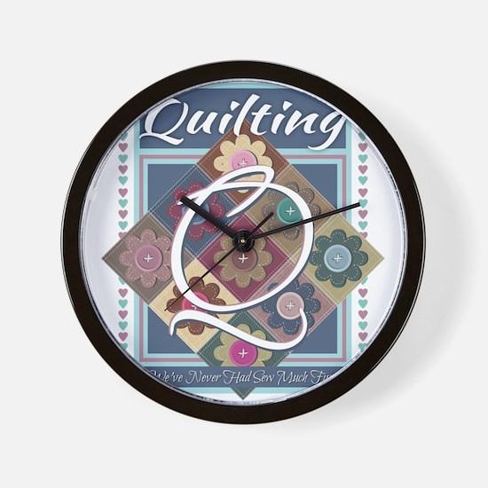 Unique Quilting mom Wall Clock