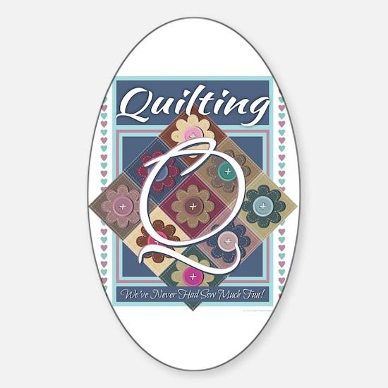 Cute Knitting mom Sticker (Oval)