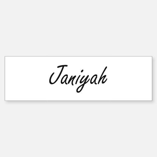 Janiyah artistic Name Design Bumper Bumper Bumper Sticker