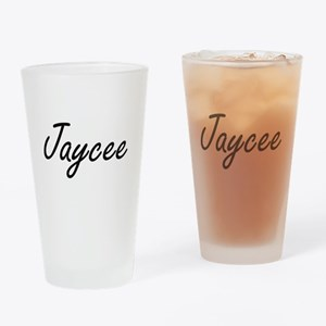 Jaycee artistic Name Design Drinking Glass