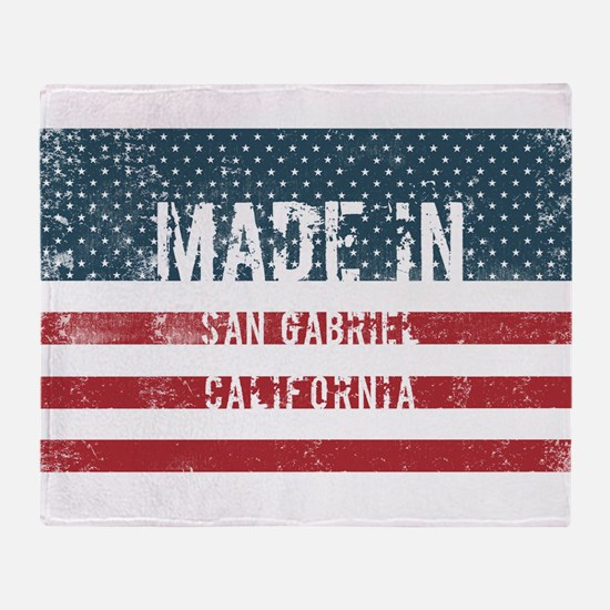 Made in San Gabriel, California Throw Blanket
