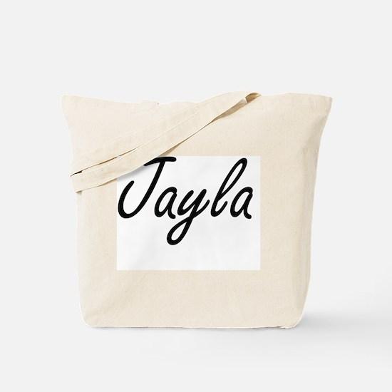 Jayla artistic Name Design Tote Bag