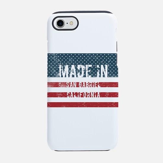 Made in San Gabriel, Califor iPhone 8/7 Tough Case