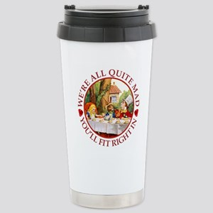We're All Quite Mad, Yo Stainless Steel Travel Mug