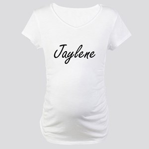 Jaylene artistic Name Design Maternity T-Shirt