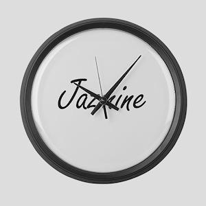 Jazmine artistic Name Design Large Wall Clock