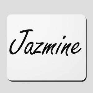 Jazmine artistic Name Design Mousepad