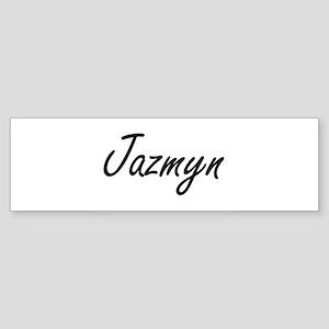 Jazmyn artistic Name Design Bumper Sticker