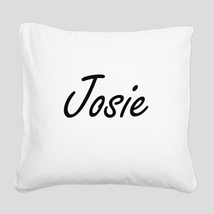 Josie artistic Name Design Square Canvas Pillow