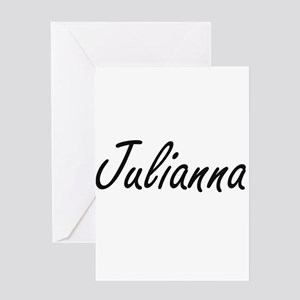 Julianna artistic Name Design Greeting Cards