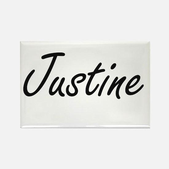 Justine artistic Name Design Magnets