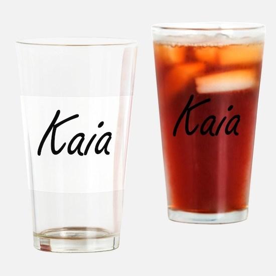 Kaia artistic Name Design Drinking Glass
