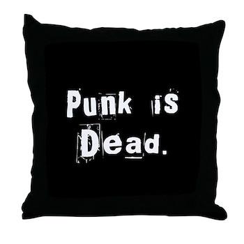 Punk is Dead Throw Pillow